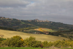 View of San Quirico d'Orcia Stock Images