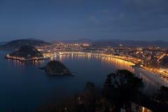 View of San Sebastian, Gipuzkoa Royalty Free Stock Images