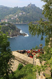 View of San Sebastian from Mount Urgull, May 5, 2013 in San Sebastian, Spain. Stock Photography