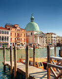 View of the San Simeone Piccolo across the Grand Canal, Venice Stock Photos