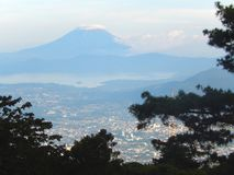 View of the San Vicente volcano stock photography