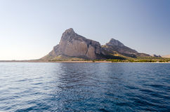 View of San Vito Lo Capo from the sea Royalty Free Stock Photo
