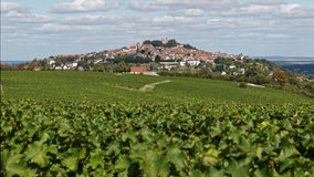 View Sancerre. The vineyards of the Loire valley Royalty Free Stock Images