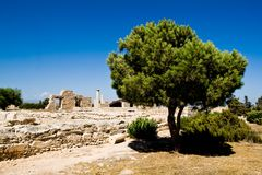View of Sanctuary of Apollon Ylatis, Cyprus Royalty Free Stock Image