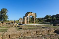 The sanctuary of Artemis at Brauron, Attica - Greece. View of the sanctuary of Artemis at Brauron, Attica - Greece royalty free stock images