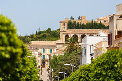 View of Sanctuary de San Salvador in Arta town, Mallorca. View of Sanctuary de San Salvador in Arta town at the summer day Royalty Free Stock Photography