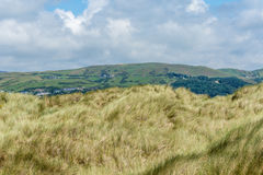 View from the sanddunes at Ynyslas beach Stock Photography
