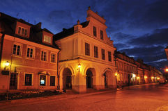 View of sandomierz in the night Royalty Free Stock Image