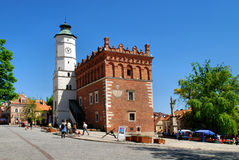 The view of Sandomierz, Poland. Royalty Free Stock Photo