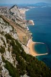 A view of Sandy Bay. East Side of Gibraltar from the top of the Rock royalty free stock photos