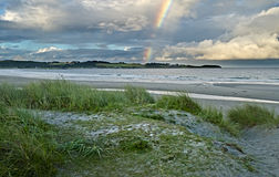 View on sandy coastal strip, Norway Royalty Free Stock Images