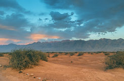 View on sandy desert of the Negev near Eilat Royalty Free Stock Photo