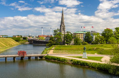 View of Sankt Albans Kirke in Copenhagen Royalty Free Stock Images