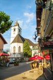 View of Sankt Wolfgang town in summer, Austria. Vertical comosit Stock Photo