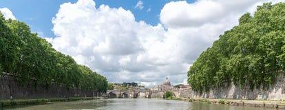 Sant`Angelo castel - Tevere river - Rome - Italy. View of Sant`Angelo castel - Tevere river - Rome - Italy stock image
