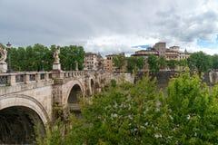 Sant`Angelo castel - Tevere river - Rome - Italy. View of Sant`Angelo castel - Tevere river - Rome - Italy royalty free stock photo