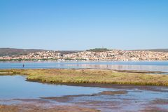 View of Sant`Antioco, Sardinia, Italy. Royalty Free Stock Image