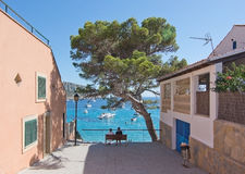 View in Sant Elm. SANT ELM, BALEARIC ISLANDS, SPAIN - JULY 10, 2016: View in Sant Elm on a sunny summer day on July 10, 2016 in Palma de Mallorca, Balearic Stock Photo