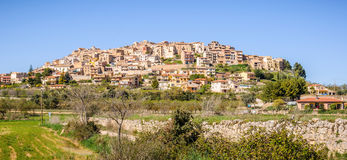 The view of Sant Joan de Horta, Spain Royalty Free Stock Images