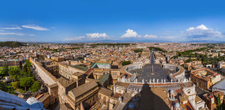 View from Sant Peters Basilica in Vatican - Rome Italy Stock Image