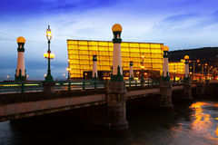 View of Sant Sebastian in evening royalty free stock photo