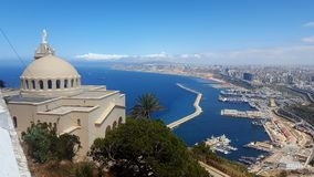 View from santa cruz in oran. Point of view of santa cruz in oran from Algeria Stock Images