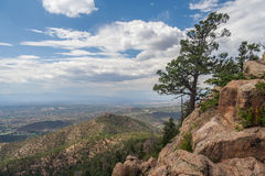 View of Santa Fe New Mexico from Atalaya Mountain royalty free stock photo