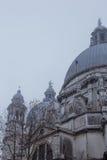 View of Santa Maria della Salute in fog. Venice, Royalty Free Stock Photo