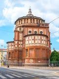 View of Santa Maria Novella church in milan, renaissance style, house of the da vinci`s fresco. ` the last supper royalty free stock image