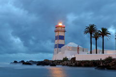 View of Santa Marta lighthouse in Cascais Stock Image