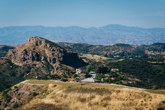 View of the Santa Monica Mountains from Decker Canyon Road, in M Stock Photo