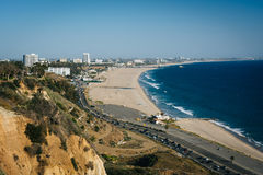 View of Santa Monica and the Pacific Ocean, in Pacific Palisades Stock Images