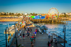 View of the Santa Monica Pier,  Royalty Free Stock Photography