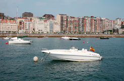 View of Santander from sea Stock Photo