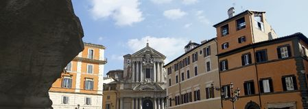 Santi Vincenzo e Anastasio a Trevi. View of the Santi Vincenzo e Anastasio a Trevi church located in Rome, Italy Royalty Free Stock Photography