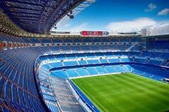 View Santiago Bernabeu football stadium. MADRID, SPAIN - MARCH 24: View Santiago Bernabeu football stadium on March 24, 2018 in Madrid, Spain stock images