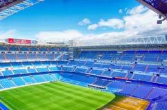 View Santiago Bernabeu football stadium. MADRID, SPAIN - MARCH 24: View Santiago Bernabeu football stadium on March 24, 2018 in Madrid, Spain stock photography