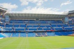 View Santiago Bernabeu football stadium. MADRID, SPAIN - MARCH 24: View Santiago Bernabeu football stadium on March 24, 2018 in Madrid, Spain royalty free stock images