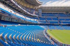 View Santiago Bernabeu football stadium. MADRID, SPAIN - MARCH 24: View Santiago Bernabeu football stadium on March 24, 2018 in Madrid, Spain royalty free stock photos