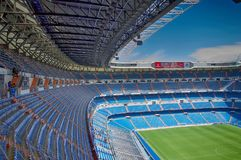 View Santiago Bernabeu football stadium royalty free stock photos