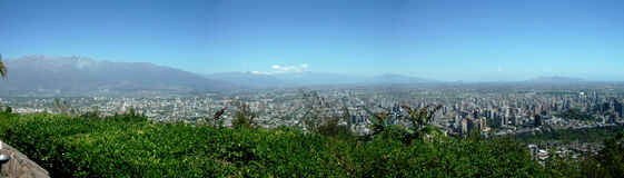 View of Santiago of Chile Royalty Free Stock Photography