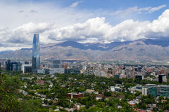 A view of Santiago City in Chile. In a clear cloudy suny day royalty free stock photo