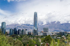 A view of Santiago City in Chile. In latinamerica Royalty Free Stock Photo