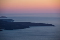 View of Santorini beach at nightfall in Greece Royalty Free Stock Photography