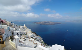 The view of santorini. The view of  santorini ,with blue sky Stock Images
