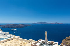 View Of The Santorini Caldera In Santorini Royalty Free Stock Images