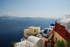 View from santorini island Royalty Free Stock Photo