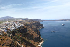 View of Santorini island Stock Photography