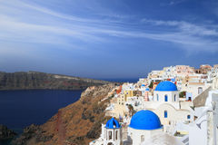 View of Santorini island Stock Photo