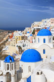 View of Santorini island. In Greece Royalty Free Stock Images